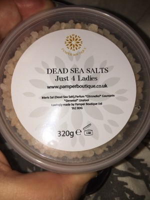 Pamper Boutique Just 4 Ladies Dead Sea Salts Brand New