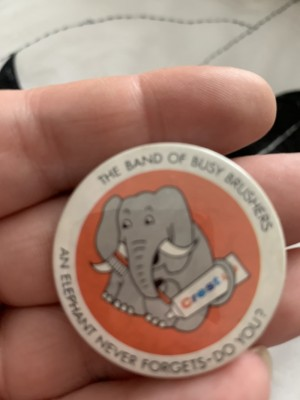 The band of busy brushes badge