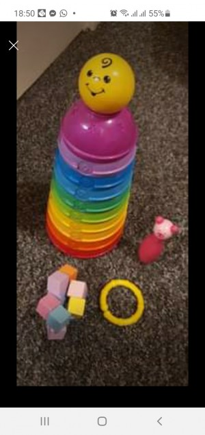 Baby Toddler Fisher Price Stackable Cups Wooden Toys