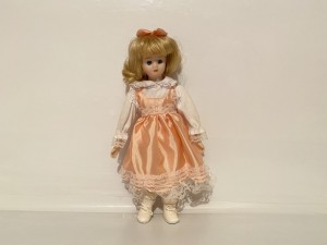 Vintage Porcelain Doll Little Ladies Traditional Collection Girl Doll