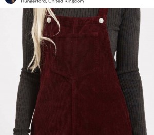 Top shop pinafore dress size 8