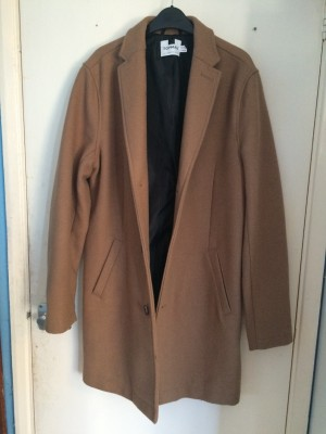 Men's camel winter frock coat