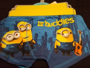 minions 2 pairs age 6/7 yrs