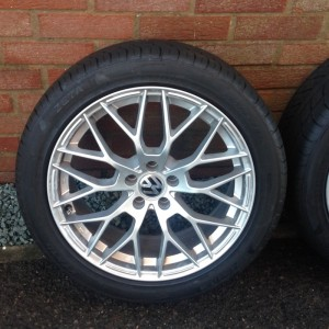 "4 17"" VW Alloy wheels with brand new tyres"
