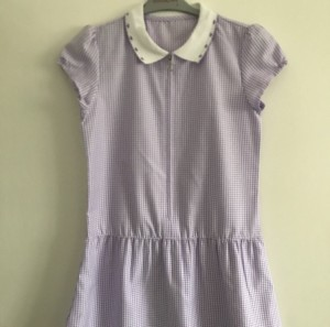 Purple school summer dress