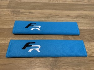 2X Seat Belt Pads Cotton Blue Gifts Seat Leon FR Cupra Ibiza Altea Spo
