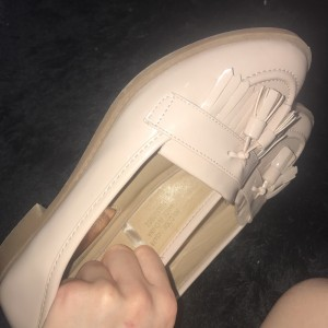 Nude light pink loafer shoes size 4 brand new worn once