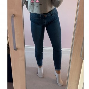 ~ RIVER ISLAND MOLLY BLUE SKINNY JEANS ~ GREAT CONDITION ~ SIZE 10 BUT