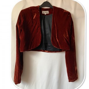 Stunning Le Chateau Cropped Velvet Blazer