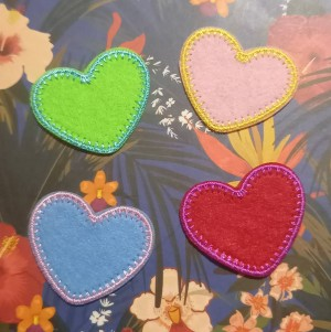 heart sew on or iron on patch