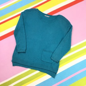 Soaked In Luxury Blue Jumper Angora Blend Knit Size Large Turquoise