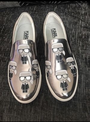 Karl lagerfeld canvas shoes