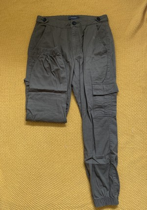 Green cargo pants. Size 8 but may come up small. 36cm waist