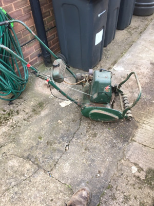 Atco commodore b12 petrol lawnmower , probably needs a service but has been a good runner, self propelled