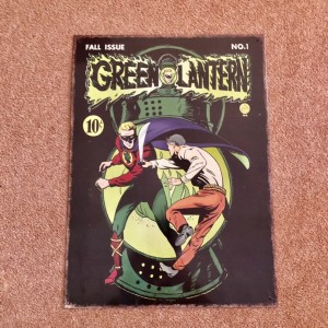 Green Lantern Metal Poster of 1941 DC Comic Cover #1 About 40x30cm