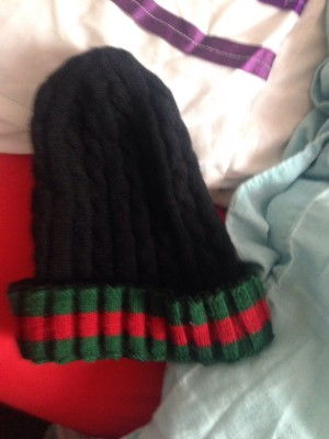 Gucci hats for sale. Gucci caps are £10 more than the woolly hats. woolly hats are £25, caps are £35