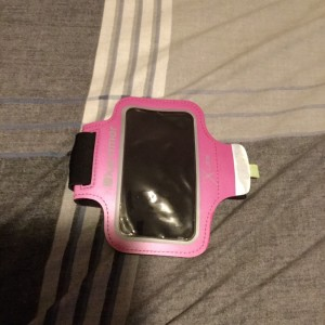 Ladies Black & Pink Karrimor Velcro Phone Arm Band