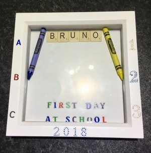 First day of school box frame