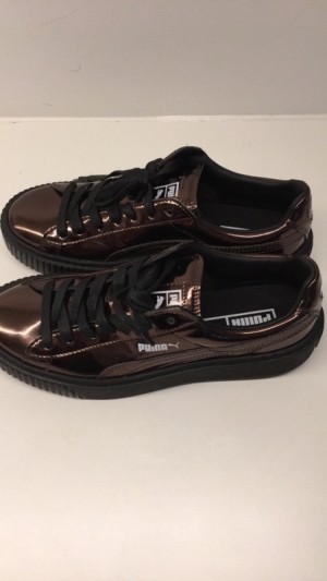 puma Basket Platform Black Metallic
