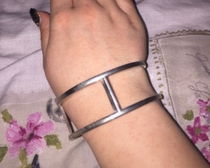 Sterling silver metal bangle  Never worn, excellent condition   Beauti