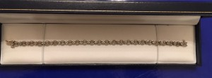 Ladies Jewellery 9ct White Gold Sparkling Diamond Bracelet Fully Hallmarked 9k 1.00ct DIA.