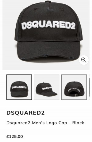 Dsquared2 black cap