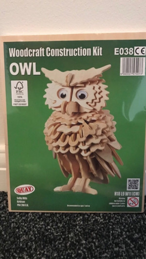 owl woodcraft kit