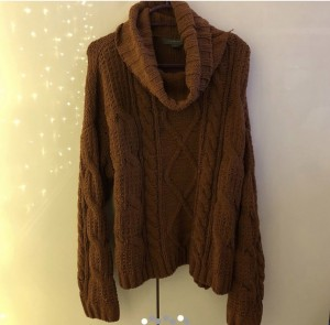 primark brown cable knit jumper size xs 6 8