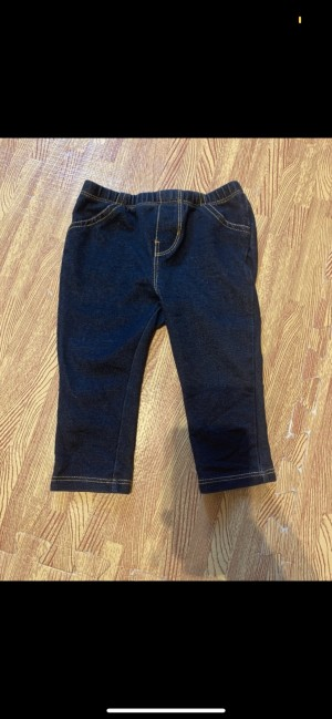 Baby gap dark blue denim jegging jeans with pocket size 12-18