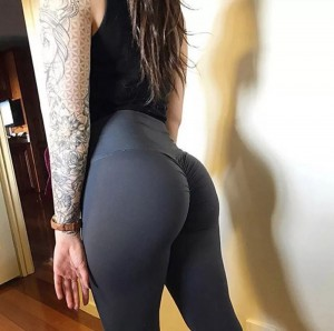 Scrunch yoga pants (avalible in sizes small medium and large )