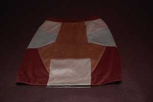 Faux suede patchwork mini skirt size 6