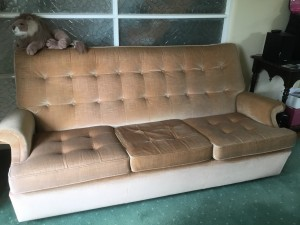 Parker knoll three seater sofa