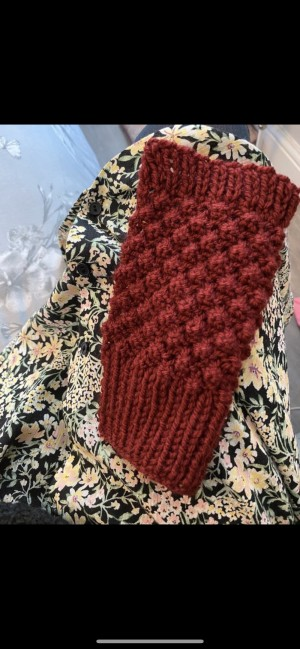 Brand new red wine knitted fingerless gloves