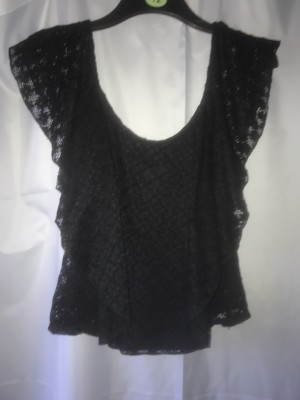 Netted black top-Size 12