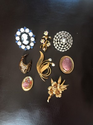 Collection Costume Brooches Vintage & Modern VGC