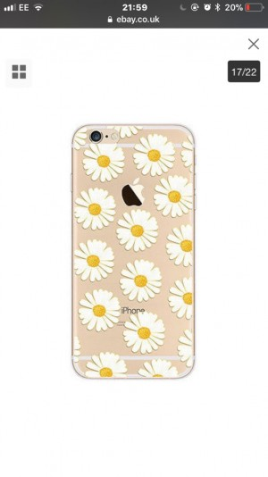 iPhone Floral Daisy Case! Available in iPhone 6+ and 7+. Free delivery!