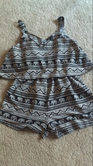 Elephant print playsuit. Size 14. Good quality only worn a few times