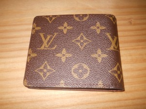 Men quality leather fashion wallet Louis Vuitton