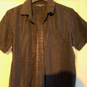 Men's George short sleeves black shirt size S