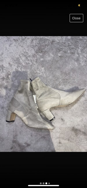H&M grey suede boots