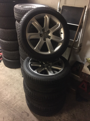 Audi A7 A8 A5 A6 oem alloy wheels with 7mm Goodyear tyres