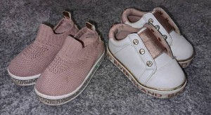 baby girl slip on trainers