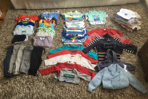 Baby boy clothes 0-3 - 9-12 months