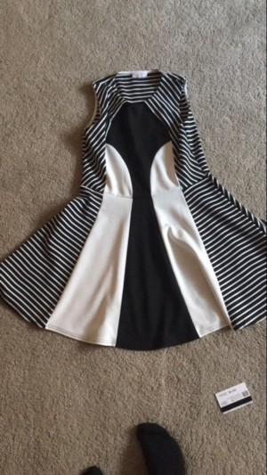 Black and white dress. From bhs 'Tammy girl collection' size 14-15 years