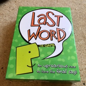 Last Word Fun Family Board Game Activity Ages 8 & Up 2-8 Players