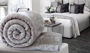 Soft faux fur furniture throw