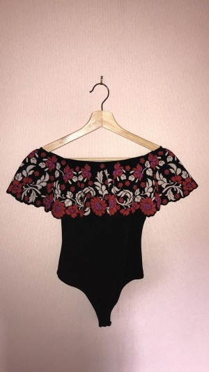 Missguided Size 8 Flowery Bodysuit