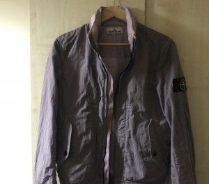 Small Pink Stone Island Nylon Metal Shield jacket