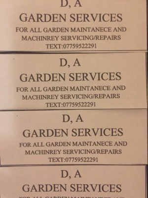 Garden machines servicing spears and repairs