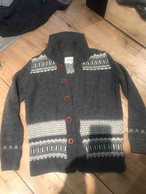 River island jumper cardigan grey size small top quality chic smart